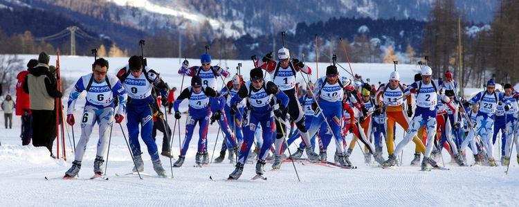 Course de biathlon hiver © Bessans