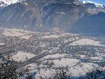 Vue arienne en hiver de Saint-Etienne-de-Cuines © Saint-Etienne-de-Cuines