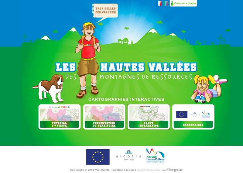 Carte interactive des Hautes vallées ©