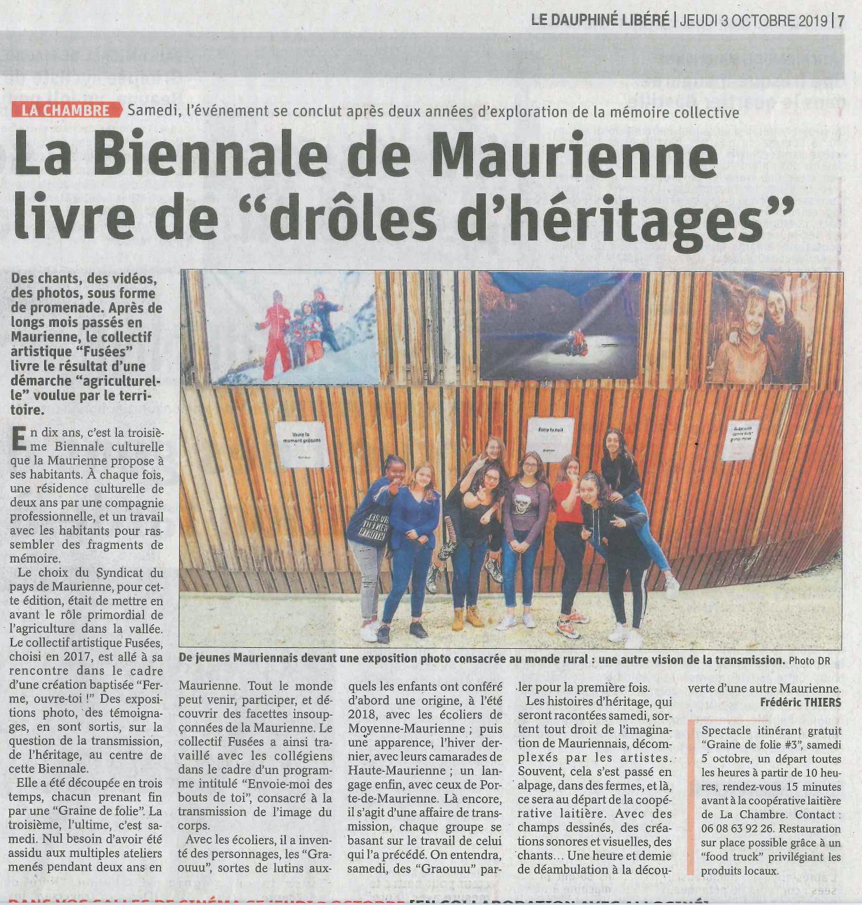 """Cliquez pour plus d'infos «La Biennale de Maurienne livre de """"drôles d'héritages""""»"""